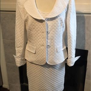 Albert Nipon White Dress and matching Jacket